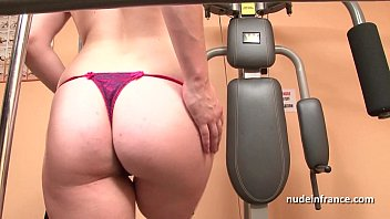 Gorgeous french redhead deep anal fucked at gym 28 min
