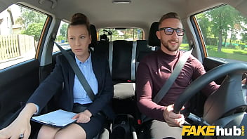 Fake Driving School Female Instructor Demands That Her Pussy Is Eating To Calm Herself Own