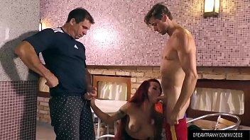 Sex Crazed Shemale Nicolly Pantoja Is Double Anal Fucked By Two Thick Cocks