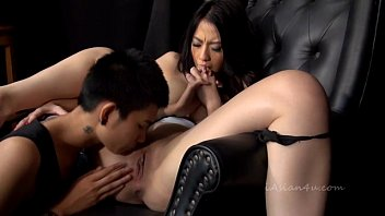 Asian girl getting tied and fingered hard