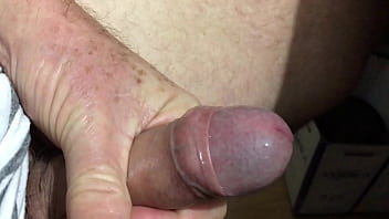 Peeled back penises - Slow showing, sliding foreskin and shooting cum - short vid