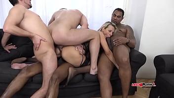 Wild Milf Bianca Ferrero intense interracial 5 man all holes Penetration