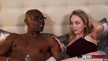 Bitchy cutie interracially drilled while stepdaddy watches