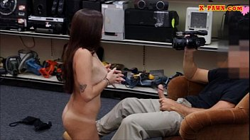 Hot ass coed posed naked and got fucked at the pawnshop