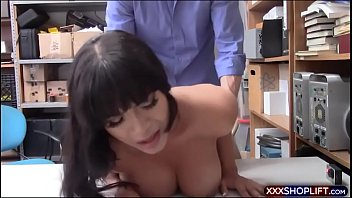 Cute latina shoplifter gets pounded
