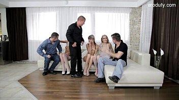 Cute model pussy spanking