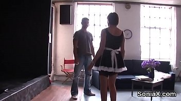 Unfaithful british milf lady sonia flashes her giant melons