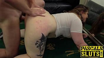 Kinky BBW Estella Bathory dominated with big cock