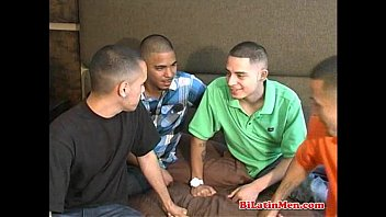 Young gay latins guys This hot bilatino models 4way kiss, then model interact sucking a vig verga and