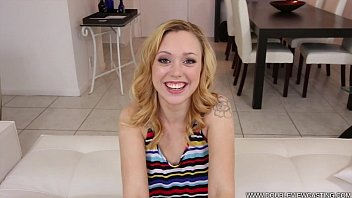 DOUBLEVIEWCASTING.COM - LUCY TYLER RIDES A BIG COCK (POV VIEW)