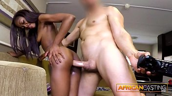 Casting - Skinny Black Babe Gets Fucked Hard