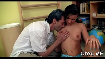 Prodigious brunette Cameron Ferrera gets nailed by lover