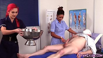 Patient naked Cfnm nurses sucking cock
