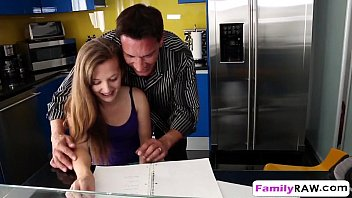Step daughter Marissa Mae helps step dad by banging xvds fbb sex
