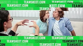 Step daughter Marissa Mae helps step dad by banging