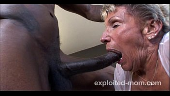 Old Granny can barely take a BBC in this Extreme Interracial Mature Video