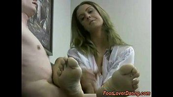 Unload by watching Swedish girl feet