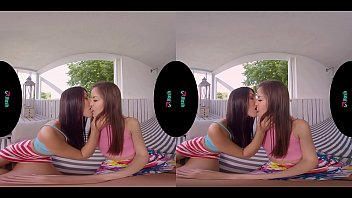 VRHUSH Naughty lesbians Cindy and Katy pleasing each other