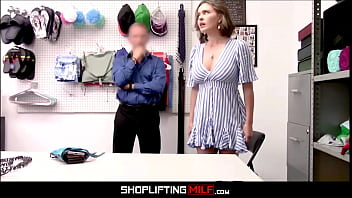 Big Tits MILF Shoplifter Krissy Lynn Anal From Guard After Finding Stolen Battery In Anal Toy thumbnail