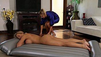 Olivia Austin learning nuru massage from Val Dodds preview image