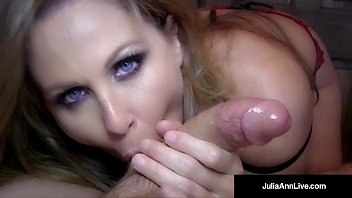 Avn mature Hottest milf julia ann blows a cock gets load on her face