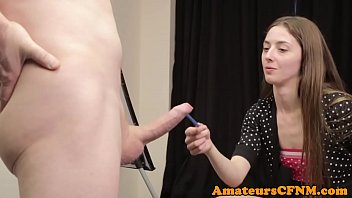 British cfnm amateur sucking male models cock