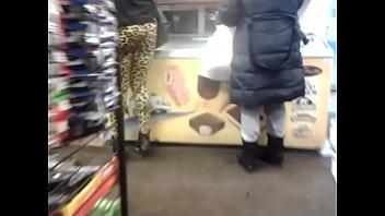 candid booty in leopard leggings