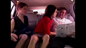 Wallpaper vintage car - Schoolgirl picked up by rich man in limousine and fucked in a hot threesome with his secretary