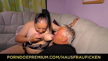 HAUSFRAU FICKEN - Tattooed German housewife gets cum on tits in dirty amateur sex best
