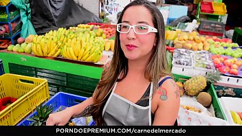 CARNE DEL MERCADO - Hot pickup and fuck with tattooed Colombian chick Catica Mamor