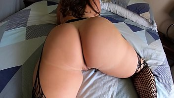 Sister puts on crotchless leggings to get step-bro to fuck her big ass!