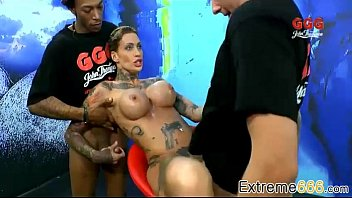 Soiled ass Calisi ink in pee swallowing mania