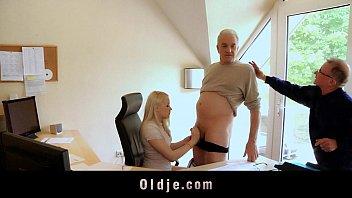 Old Bussines Man Fucking Hot Blonde Secretary