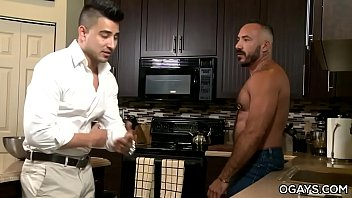 Homo mature men fuck in the kitchen pornhub video