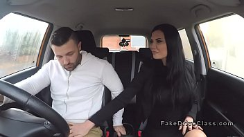 Milf examiner fucks male driving student