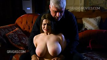 Breast torture and whipping Large tits fondled and squeezed