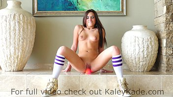 Kaley cuco sex Kaley kade rides a suctioned dildo