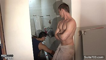 Sexy gay mehn Sexy gay worker getting fucked and jizzed