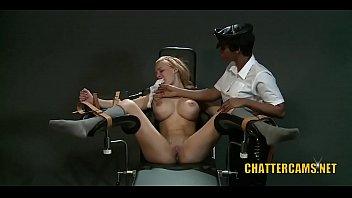 Big Tits Slave Girl Gets Painful Lesbian BDSM Lessons
