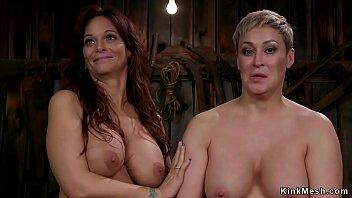 Lesbian Milf Butt Fucked In Barn