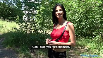 Sexy fakes pictures Public agent busty horny lady gets fucked in the woods for cash