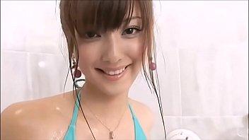 Nozomi Sasaki take a Shower in Bikini more http://adf.ly/1oBmS3