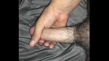 Jacking off my young 7.5 in cock