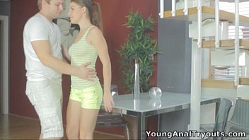 Young Anal Tryouts - Butt fucked Marina begs to get filled