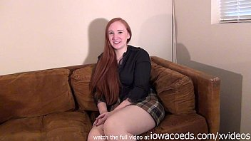bbw redhead iowa college girl stripping down to...