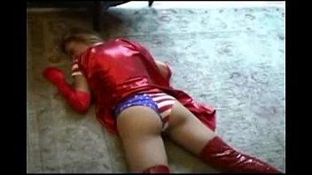 sexy superheroine - the champion of justice destroyed
