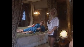 Classy Blonde Woman In Black Stockings Banged In Bed