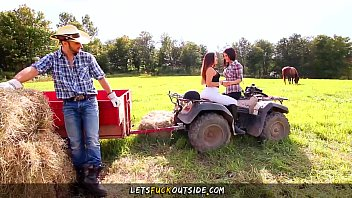 Naked cowboy studs - Lets fuck outside - cowgirls gets fucked by cowboy in outdoor threesome