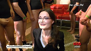 Glasses bukkake Little mini hotcore vs nerdy milf manu - choose the best cum slut