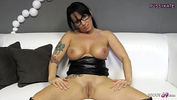 German Latex Mom with Big Tits Horny POV Dirty Talk for You